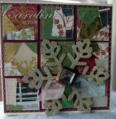 Squares-finished card