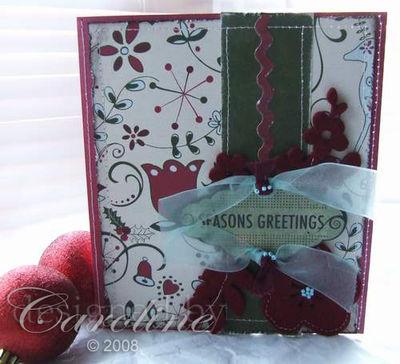 Christmas Card-sewn