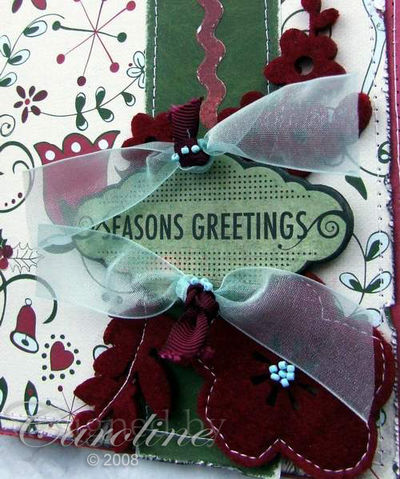 Christmas Card-sewn closeup