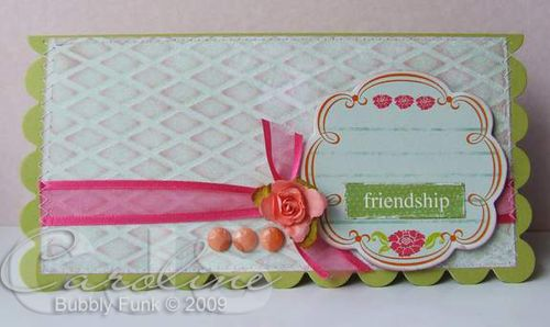 Embossing challenge card copy