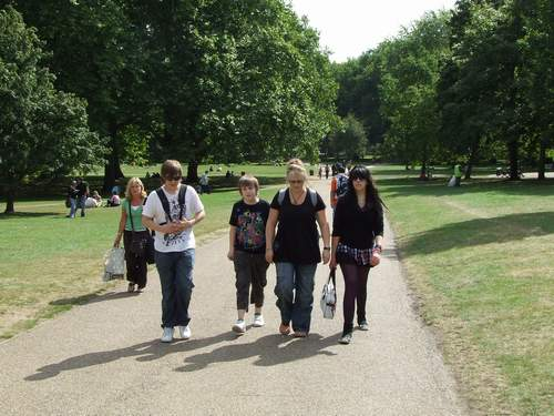 Walking through Hyde Park