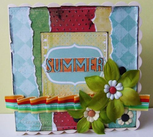 CCC DT - Summer Ribbon card