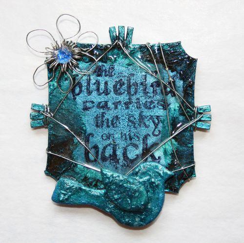 Bluebird fridge magnet