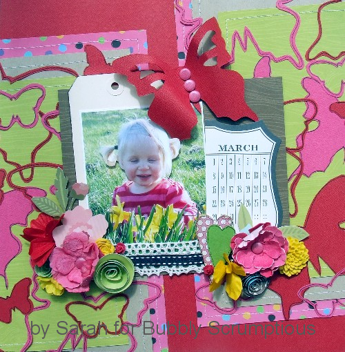 'A waste of a background' scrapbook page