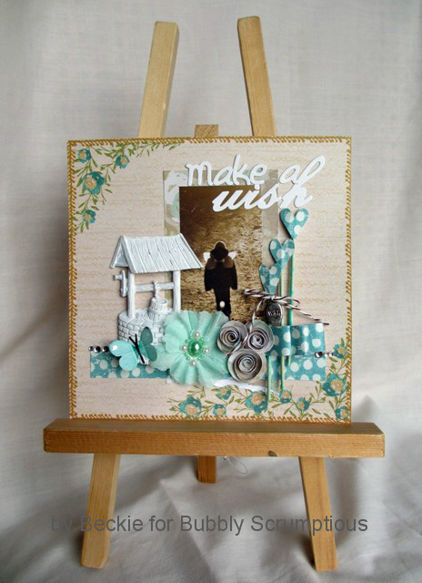 6x6 scrapbooking page