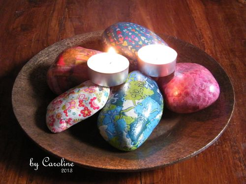 Decopatch cobbles and candles!