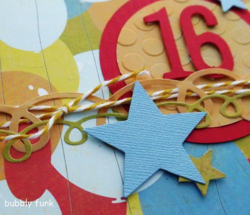 16 Birthday Card closeup