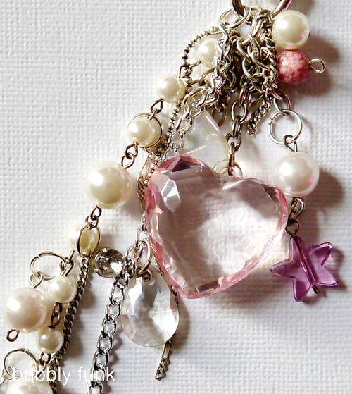 Handbag Charm-pink closeup