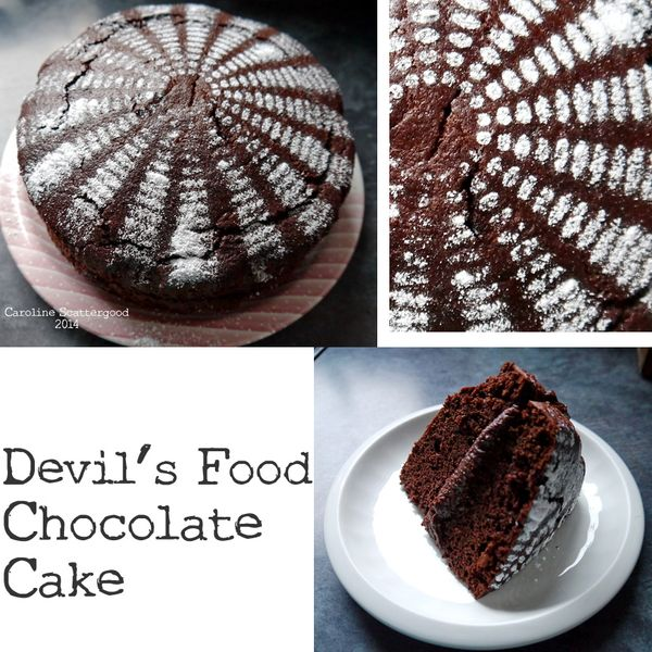 Devil's Food Chocolate Cake With Stencil
